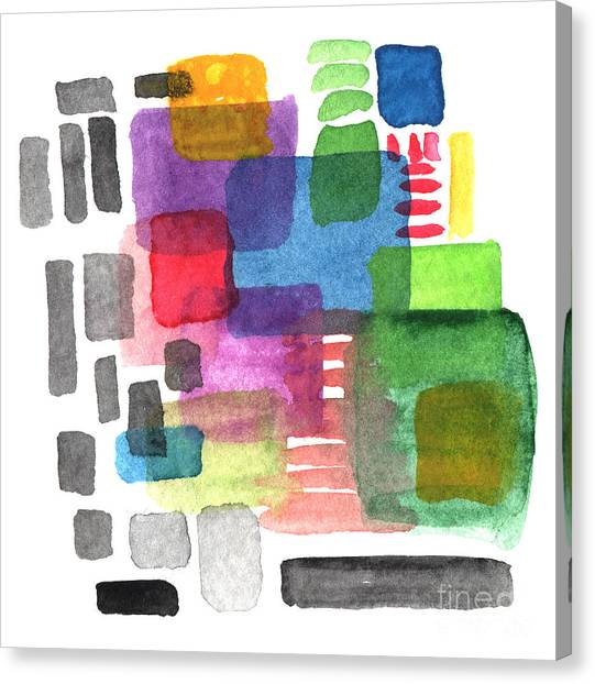 Squares Canvas Print - Out Of The Box by Linda Woods