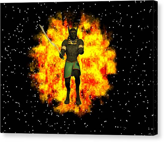 Out Of The Flames Canvas Print