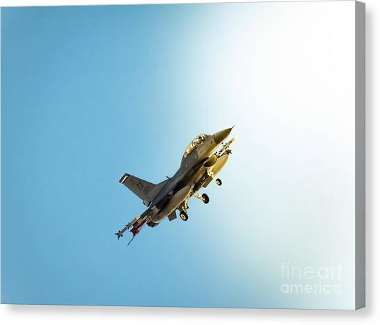 Missles Canvas Print - Out Of The Wild Blue by Robert Frederick