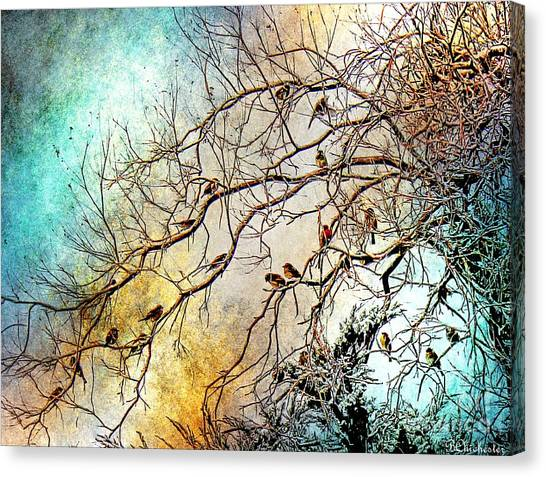 Out On A Limb In Jewel Tones Canvas Print