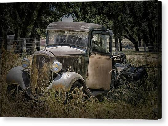 Rusty Truck Canvas Print - Out To Pasture by Patricia Stalter