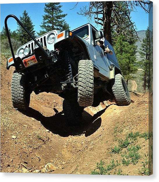 Offroading Canvas Print - Out To Play Today. #jeep #jeepwrangler by James Crawshaw