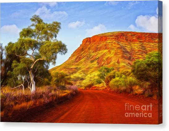 Dirt Road Canvas Print - Outback Road Australia by Colin and Linda McKie