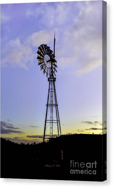 Outback Windmill Canvas Print