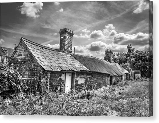 Canvas Print featuring the photograph Outbuildings. by Gary Gillette