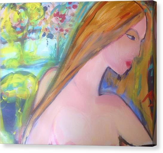 Outdoor Bath Canvas Print