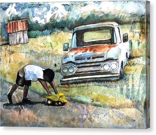 Outdoor Play'n Trucks Canvas Print