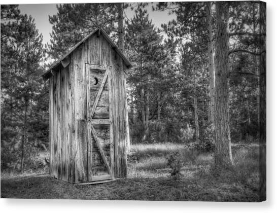 Wood Canvas Print - Outdoor Plumbing by Scott Norris