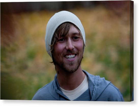 Real Salt Lake Canvas Print - Outdoor Portrait Of A Man Smiling by Adam Clark