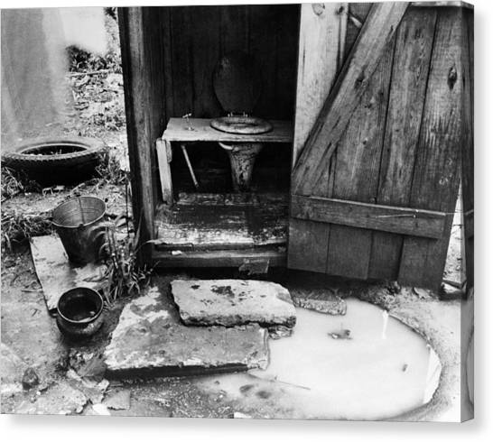 Outdoor Toilet, 1935 Canvas Print by Granger