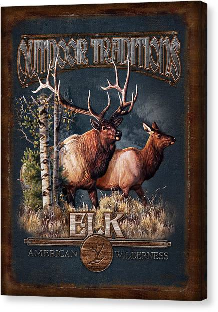 Elk Canvas Print - Outdoor Traditions Elk by JQ Licensing