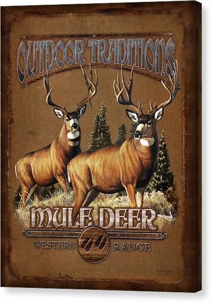 Buck Canvas Print - Outdoor Traditions Mule Deer by JQ Licensing