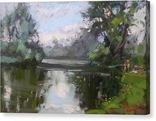 Hyde Park Canvas Print - Outdoors At Hyde Park by Ylli Haruni