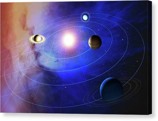 Uranus Canvas Print - Outer Solar System Planets by Mark Garlick/science Photo Library