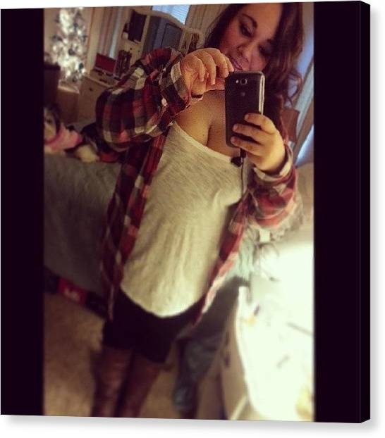 Flannel Canvas Print - Outfit Of The Day <3 #ootd #flannels by Becky Gonzalez