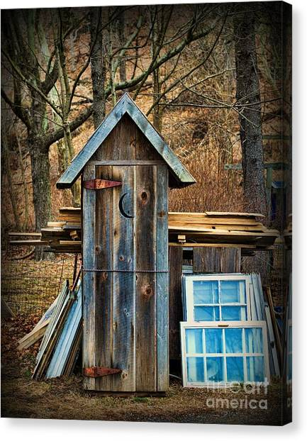 Outhouse - 5 Canvas Print