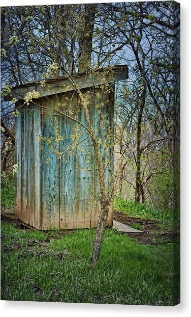 Outhouse In Spring Canvas Print