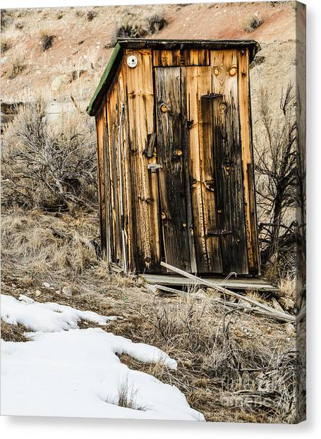 Outhouse With Electricity Canvas Print