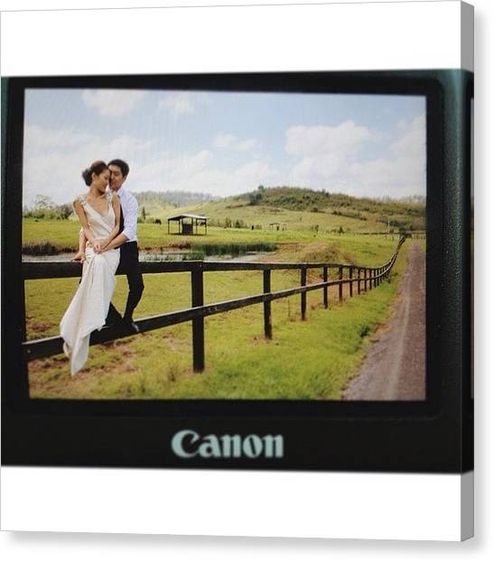 Groom Canvas Print - #outofcamera Shot =d  #wedding At A by Vincy S