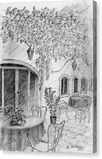 Outside Cafe Canvas Print