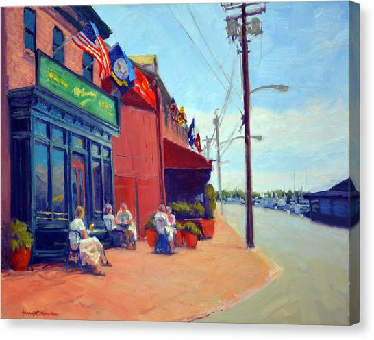 Oysters Canvas Print - Outside Mcgarvey's by Armand Cabrera