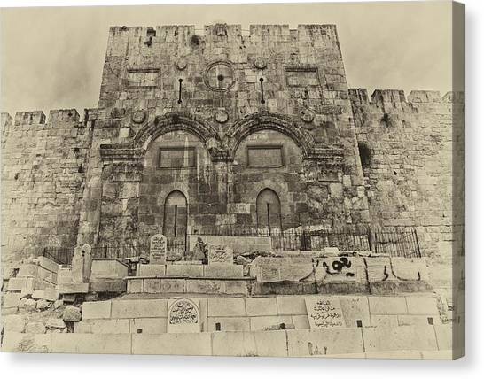 Outside The Eastern Gate Old City Jerusalem Canvas Print
