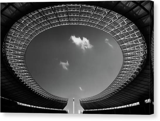 Stadiums Canvas Print - Oval by Hans-wolfgang Hawerkamp