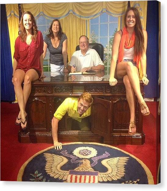 Republican Canvas Print - Oval Office With The Fam! 😃❤💙 by Sarah Long