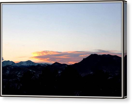 Over Lookout Mountain Golden Colorado Canvas Print by Misty Herrick