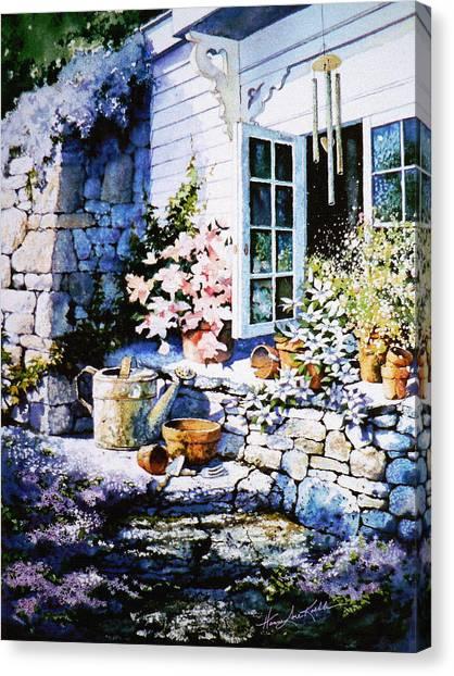 Wind Chimes Canvas Print - Over Sleepy Garden Walls by Hanne Lore Koehler
