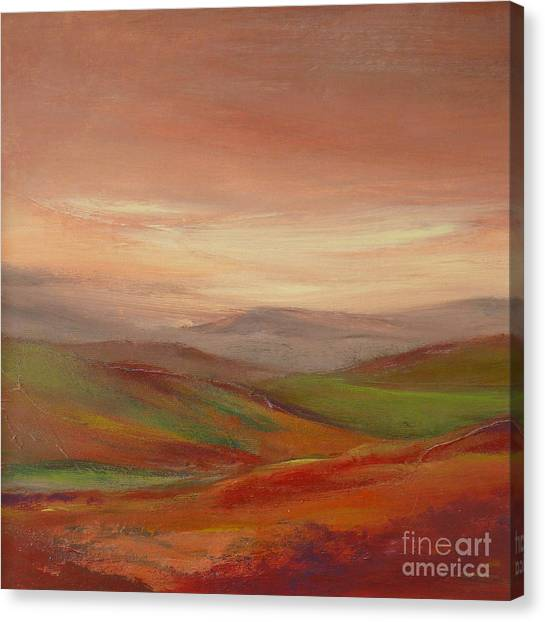 Over The Valley Canvas Print