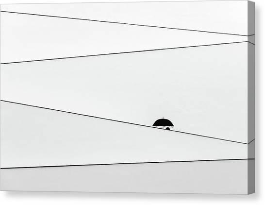 Over There, It's Raining Canvas Print by Fernando Correia Da