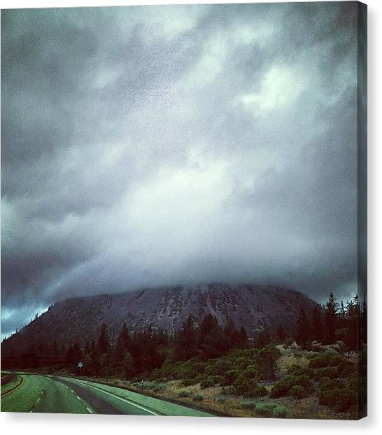 Interstates Canvas Print - #overcast #allday #stratus by Paul West