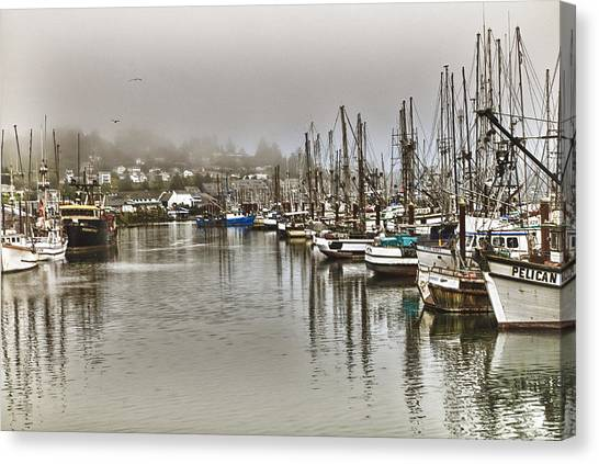 Overcast Harbour Canvas Print