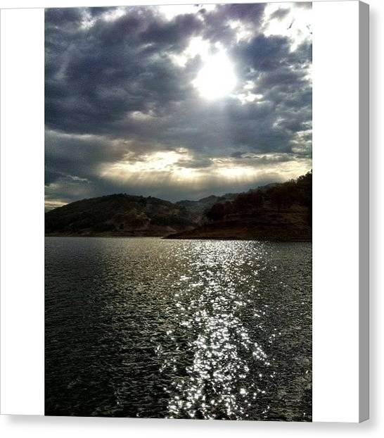Canvas Print - Overcast Morning On The Lake. Caught by Super Mario