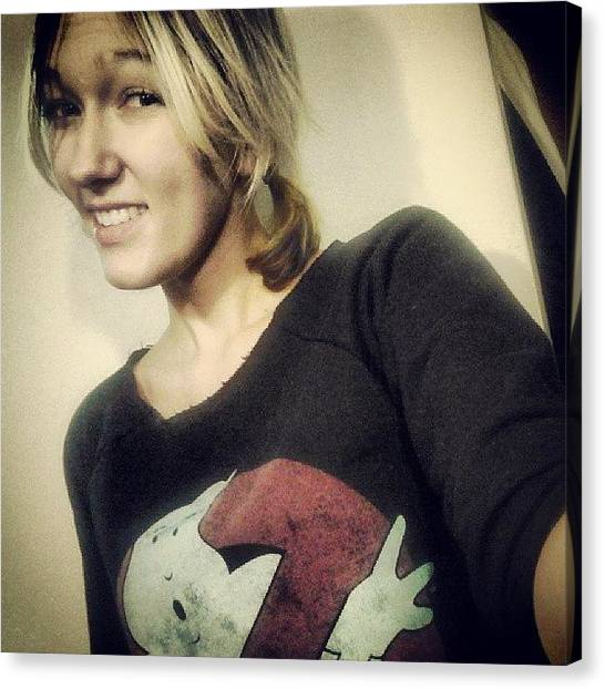 Ghostbusters Canvas Print - #overdue For An #okay #selfie. #me by Courtney Underwood