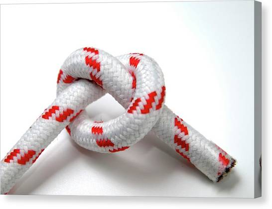 Knot Canvas Print - Overhand Knot by Photostock-israel/science Photo Library