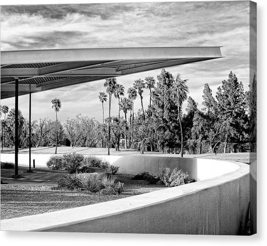 Overhang Canvas Print - Overhang Bw Palm Springs by William Dey