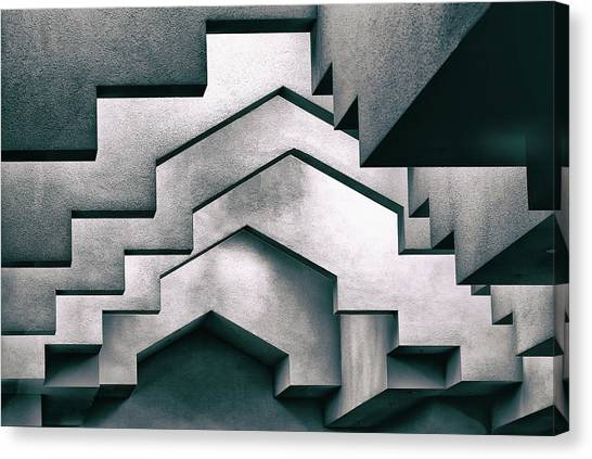 Tetris Canvas Print - Overhangs by Hans-wolfgang Hawerkamp