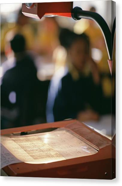 Classroom Canvas Print - Overhead Projector by Martin Riedl/science Photo Library