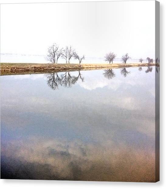 Oklahoma Canvas Print - #overholser #reflection #water #walking by Angela Breeden