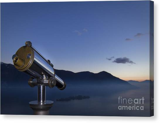 Overlook To The Island Canvas Print