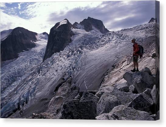 Canada Glacier Canvas Print - Overlooking Bugabo Glacier by Chris Pinchbeck