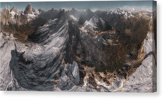 Dolomites Canvas Print - Overlooking Geisler Gruppe by Stan Huang