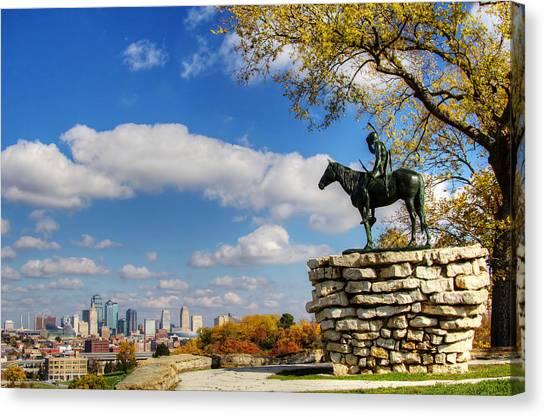 Overlooking Kansas City Canvas Print