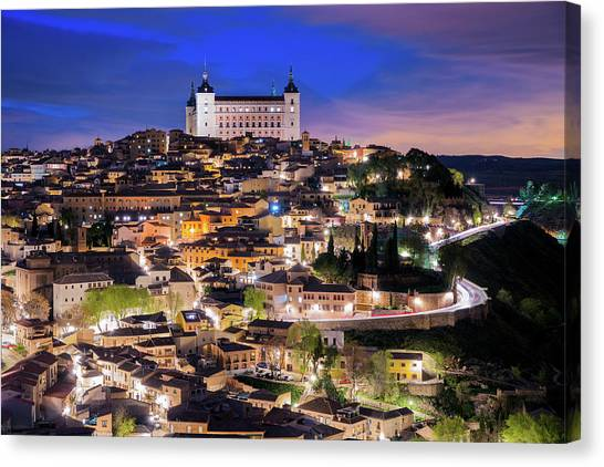 Overview Of The City Of Toledo In Spain Canvas Print by Daniel Viñé Garcia
