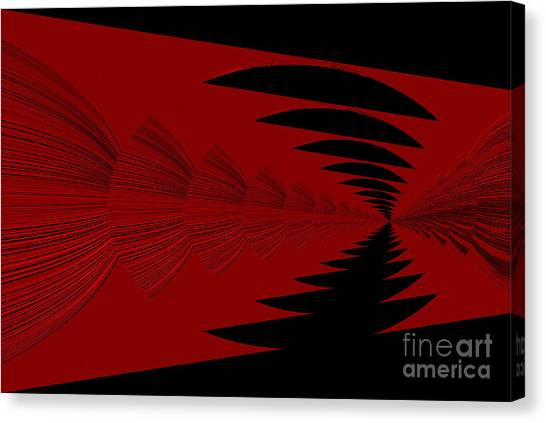 Red And Black Design Canvas Print