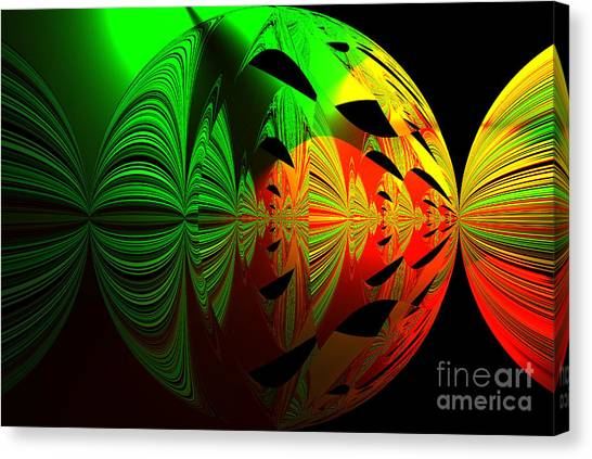 Art. Unigue Design.  Abstract Green Red And Black Canvas Print