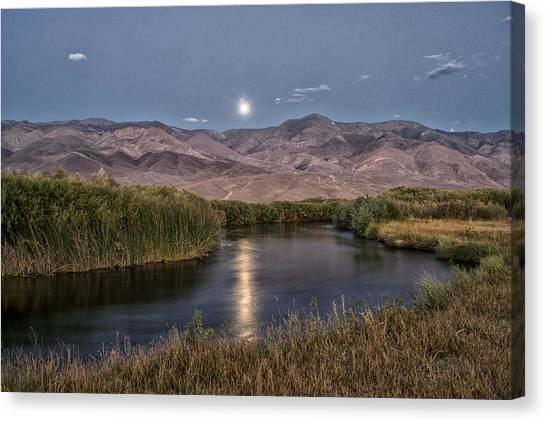 Owens River Moonrise Canvas Print