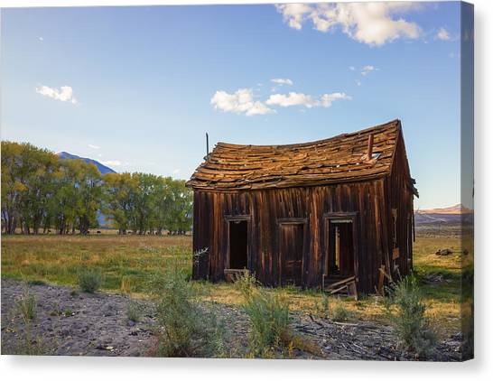 Canvas Print featuring the photograph Owens Valley Shack by Priya Ghose